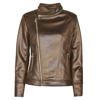 material Women Leather jackets / Imitation leather Desigual CARNABY STREET Brown