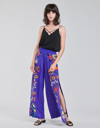 material Women Wide leg / Harem trousers Desigual CHIPRE Blue