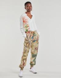 material Women Wide leg / Harem trousers Desigual TOUCHE Beige