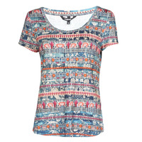 material Women short-sleeved t-shirts Desigual SANTORINI Multicolour