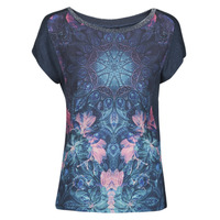 material Women short-sleeved t-shirts Desigual COPENHAGUE Blue