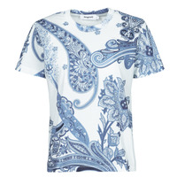 material Women short-sleeved t-shirts Desigual POPASLEY Blue
