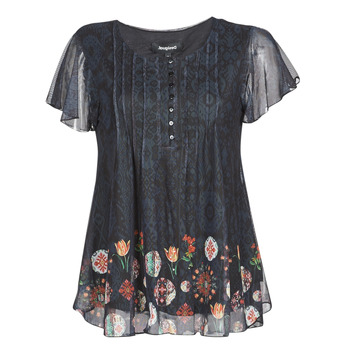 material Women short-sleeved t-shirts Desigual NORTE Black