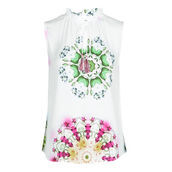 material Women Tops / Sleeveless T-shirts Desigual ROSEN White