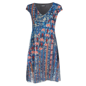 material Women Short Dresses Desigual MERRY Blue