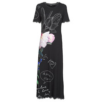material Women Long Dresses Desigual FLOR Black