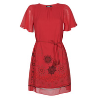 material Women Short Dresses Desigual TAMPA Red
