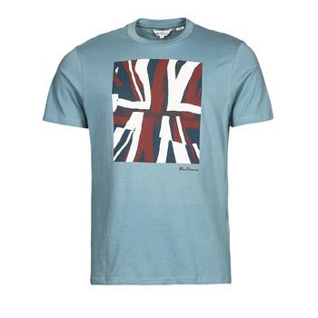 material Men short-sleeved t-shirts Ben Sherman HALF TONE FLEG TEE Blue