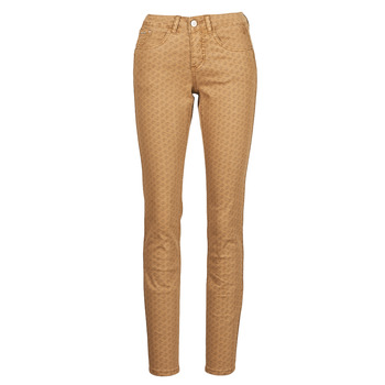 material Women 5-pocket trousers Cream LOTTE PRINTED Beige