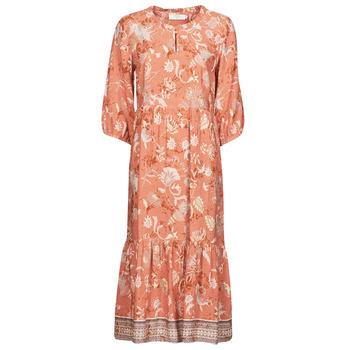 material Women Long Dresses Cream JOHUI DRESS Orange