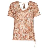 material Women short-sleeved t-shirts Cream LULLA TSHIRT Multicoloured