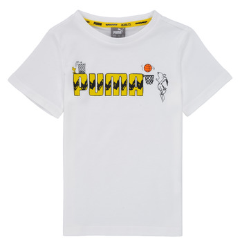 material Boy short-sleeved t-shirts Puma SNOOPY PEANUTS GRAF TEE Black