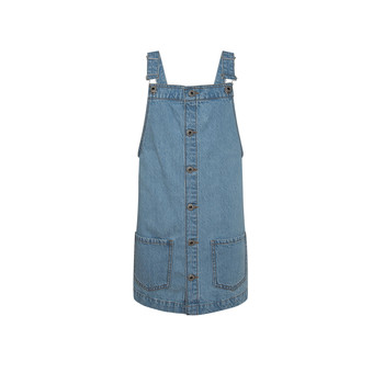 material Girl Short Dresses Pepe jeans CHICAGO PINAFORE Blue