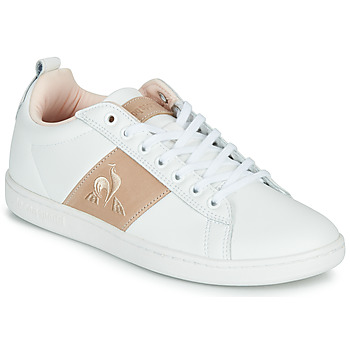 Shoes Women Low top trainers Le Coq Sportif COURTCLASSIC White / Pink