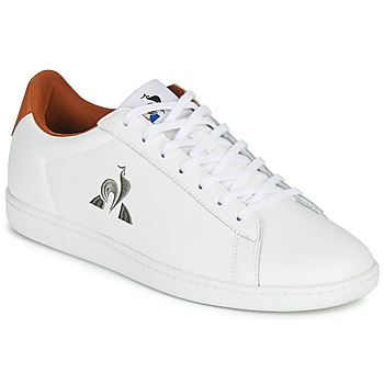 Shoes Men Low top trainers Le Coq Sportif MASTER COURT White / Brown