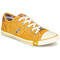 Shoes Women Low top trainers Mustang NATHALIA Yellow