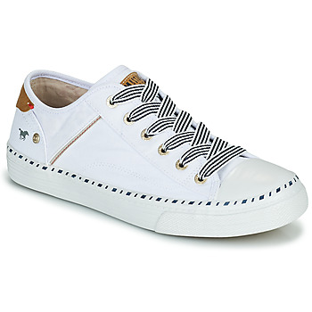 Shoes Women Low top trainers Mustang THEORA White