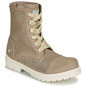 Shoes Women Mid boots Mustang FRAPINA Beige