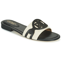 Shoes Women Mules Lauren Ralph Lauren ALEGRA Black / Beige