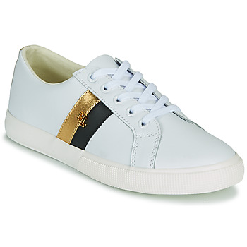 Shoes Women Low top trainers Lauren Ralph Lauren JANSON II White / Gold