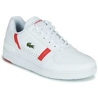 Shoes Men Low top trainers Lacoste T-CLIP 0721 2 SMA White / Red