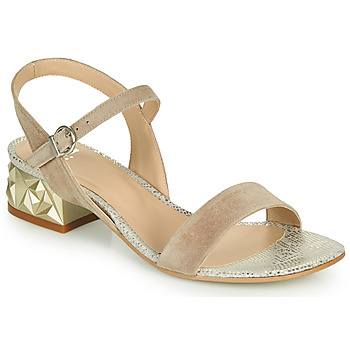 Shoes Women Sandals Perlato 11817-CAM-FREJE-STONE Beige / Gold
