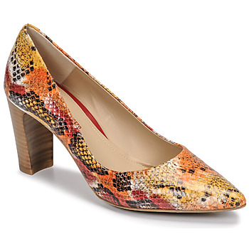 Shoes Women Court shoes Perlato 11008-SUMATRA-SAFFRAN Python / Red