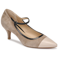 Shoes Women Court shoes Perlato 11760-VENUS-NUDE-CAM-STONE Beige / Black