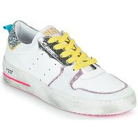 Shoes Women Low top trainers Semerdjian SONA White / Silver