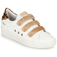 Shoes Women Low top trainers Semerdjian GARBIS White / Gold