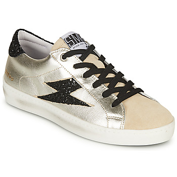 Shoes Women Low top trainers Semerdjian CATRI Beige / Silver / Black