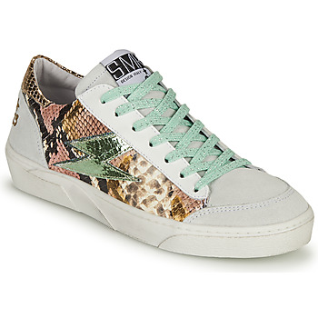 Shoes Women Low top trainers Semerdjian ELISE White / Brown