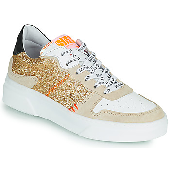 Shoes Women Low top trainers Semerdjian SUVA Gold / White / Orange