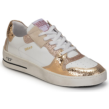 Shoes Women Low top trainers Semerdjian LOME White / Gold