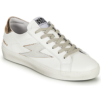 Shoes Women Low top trainers Semerdjian CATRI White / Gold