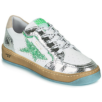 Shoes Women Low top trainers Semerdjian ARTO White / Silver / Green
