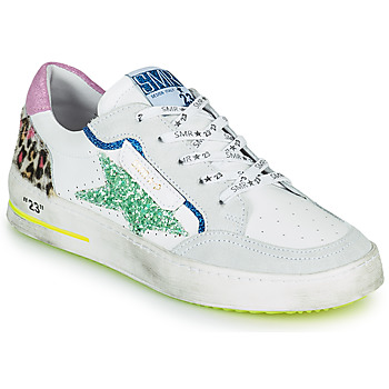 Shoes Women Low top trainers Semerdjian ARTO White / Grey / Blue