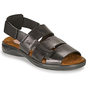 Shoes Men Sandals Fluchos 1200-SURF-NEGRO Black