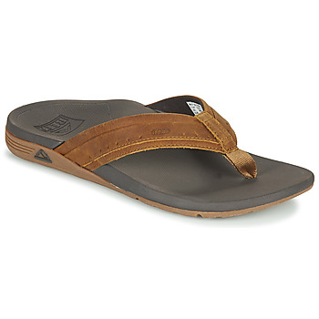 Shoes Men Flip flops Reef LEATHER ORTHO-SPRING Brown