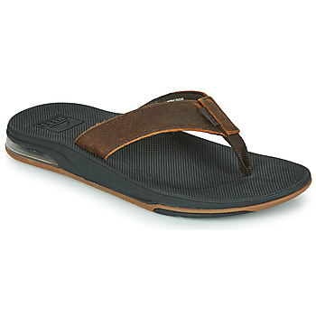 Shoes Men Flip flops Reef LEATHER FANNING LOW Brown