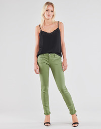 material Women 5-pocket trousers Freeman T.Porter ALEXA SLIM NEW MAGIC COLOR Green
