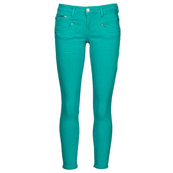 material Women 5-pocket trousers Freeman T.Porter ALEXA CROPPED NEW MAGIC COLOR Green