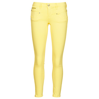 material Women 5-pocket trousers Freeman T.Porter ALEXA CROPPED NEW MAGIC COLOR Yellow