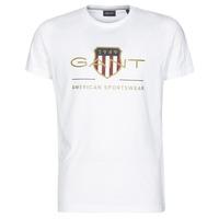 material Men short-sleeved t-shirts Gant ARCHIVE SHIELD White