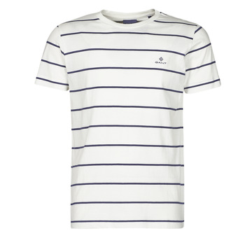 material Men short-sleeved t-shirts Gant BRETON STRIPE White