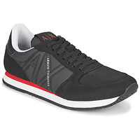 Shoes Men Low top trainers Armani Exchange ESPACIA Black / Red