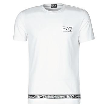 material Men short-sleeved t-shirts Emporio Armani EA7 3KPT05-PJ03Z-1100 White