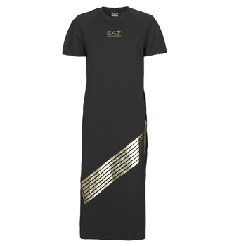 material Women Long Dresses Emporio Armani EA7 3KTA54-TJ2HZ-1200 Black / Gold