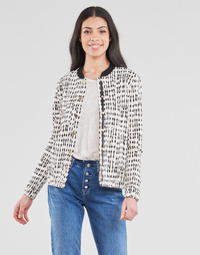 material Women Jackets / Blazers One Step MADANY Ecru / Black
