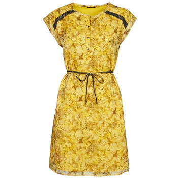 material Women Short Dresses One Step RAYNA Yellow